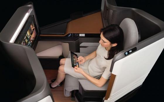 Panasonic: Ultra HD in der Business Class von Airlines
