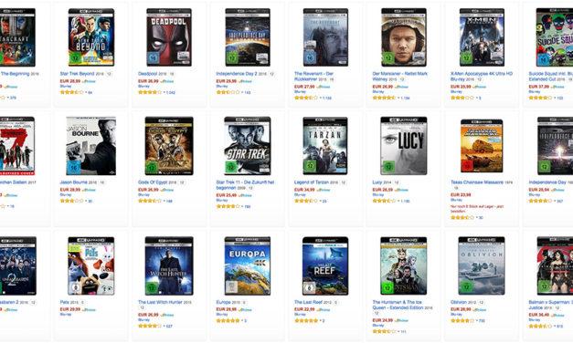 Bald über 100 4K Blu-rays auf Amazon.de gelistet