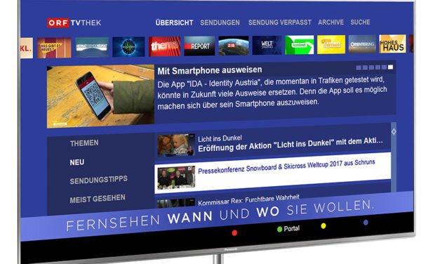 Panasonic stellt sich immer breiter auf: Jetzt eine App für ORF-TVthek