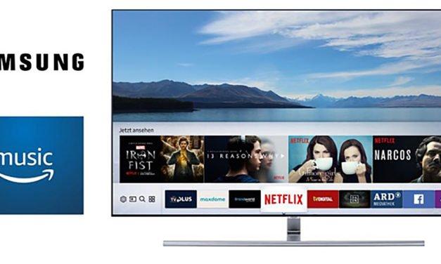 Amazon-App im Smart-Hub von Samsung TVs bringt Musik auf den Schirm