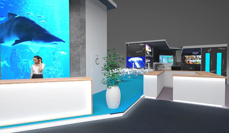 optoma dr ngt es zur ise 2019 auch neue 4k beamer im gep ck. Black Bedroom Furniture Sets. Home Design Ideas