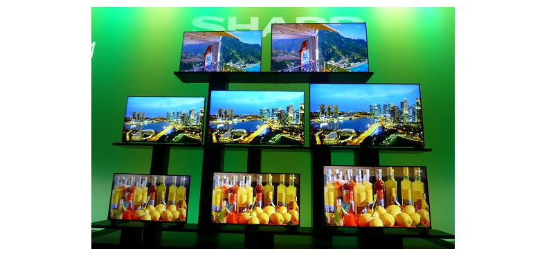 CES 2015: Neue 4K TVs und ein 7-Zoll-Tablet von Sharp mit Energieeffizienz-Modus gezeigt