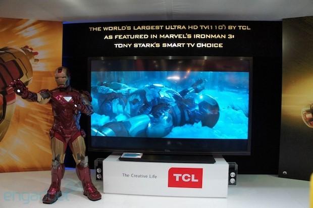 TCL wirbt mit Marvel's Ironman 3 für 110″ Ultra-HD-Fernseher
