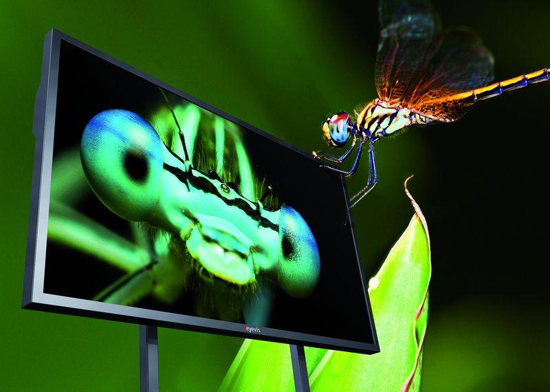eyevis EYE-LCD-8400-QHD-LE vorgestellt: 84-Zoll-LCD mit 4K-Auflösung