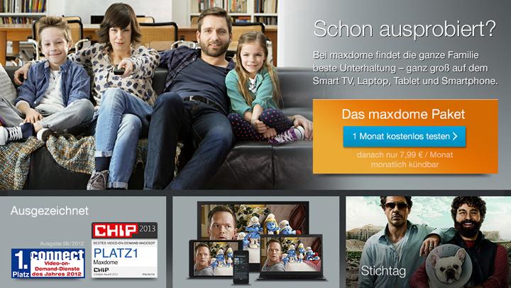 Maxdome wird Ultra HD unterstützen